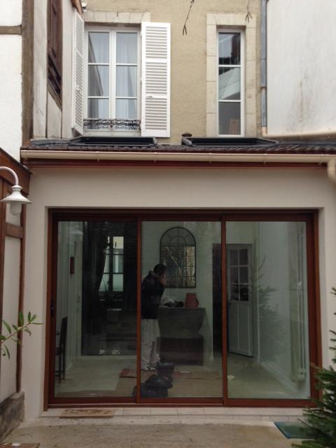 fabulous cration duune extension de m avec terrasse et. Black Bedroom Furniture Sets. Home Design Ideas