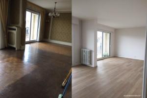 Alkéos Rénovation Reims Avant Après Salon Parquet
